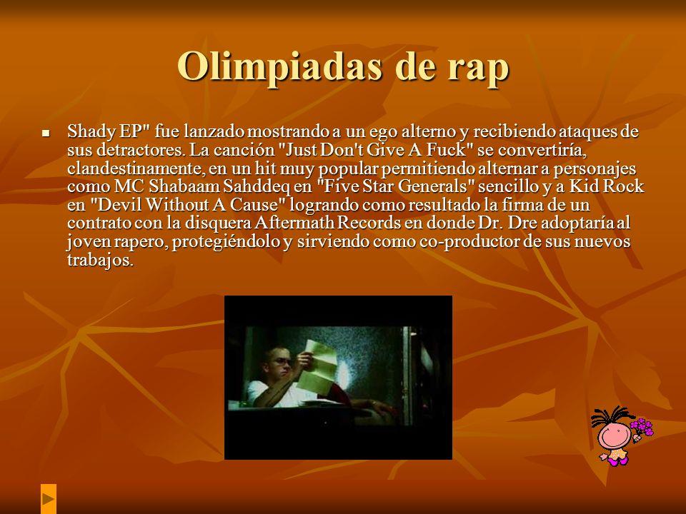 Olimpiadas de rap Shady EP fue lanzado mostrando a un ego alterno y recibiendo ataques de sus detractores.