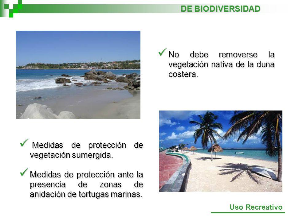 Medidas de protección de vegetación sumergida. Medidas de protección de vegetación sumergida. Medidas de protección ante la presencia de zonas de anid