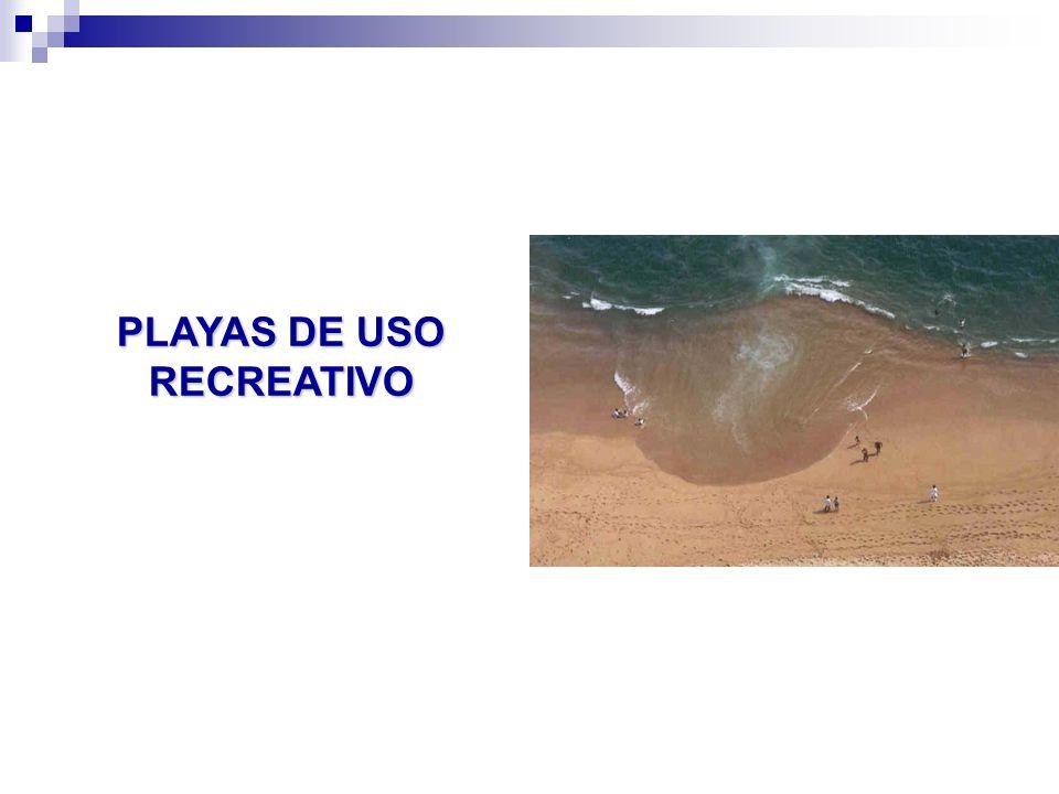 PLAYAS DE USO RECREATIVO