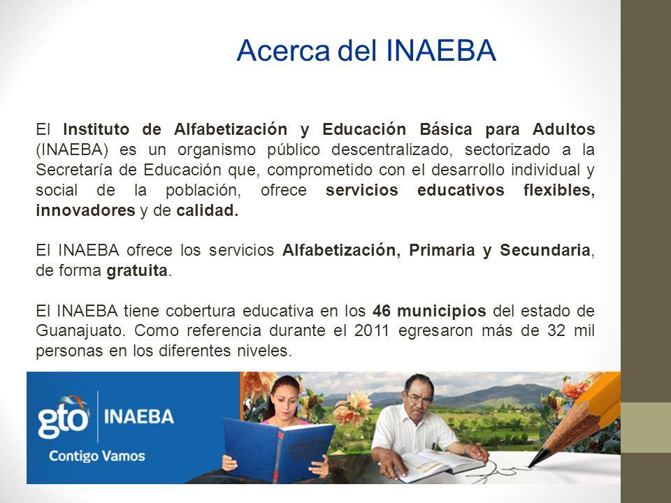 Acerca del INAEBA El Instituto de Alfabetización y Educación Básica para Adultos (INAEBA) es un organismo público descentralizado, sectorizado a la Se