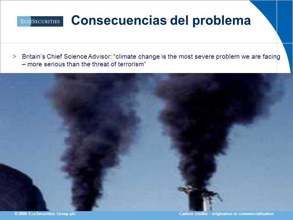 Carbon credits - origination to commercialisation© 2006 EcoSecurities Group plc Muchas Gracias