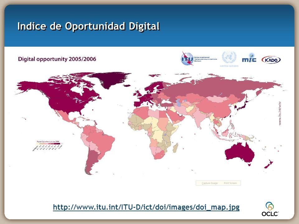 Indice de Oportunidad Digital http://www.itu.int/ITU-D/ict/doi/images/doi_map.jpg
