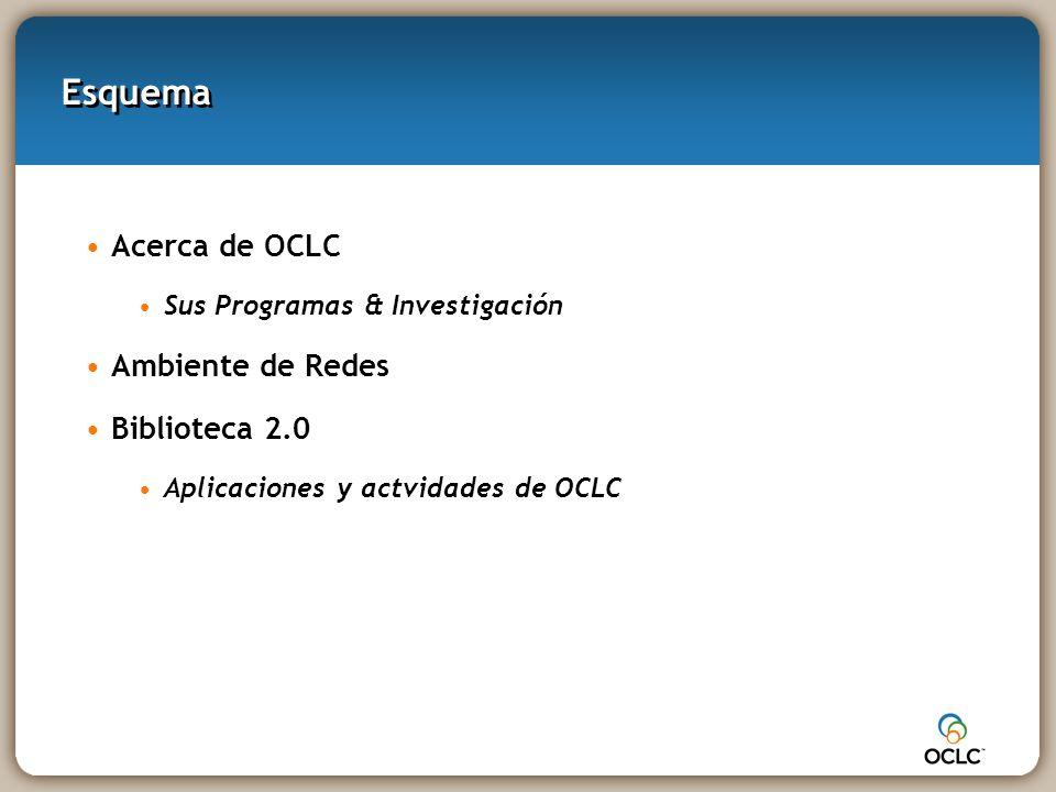 Acerca de OCLC y de sus programas e investigación