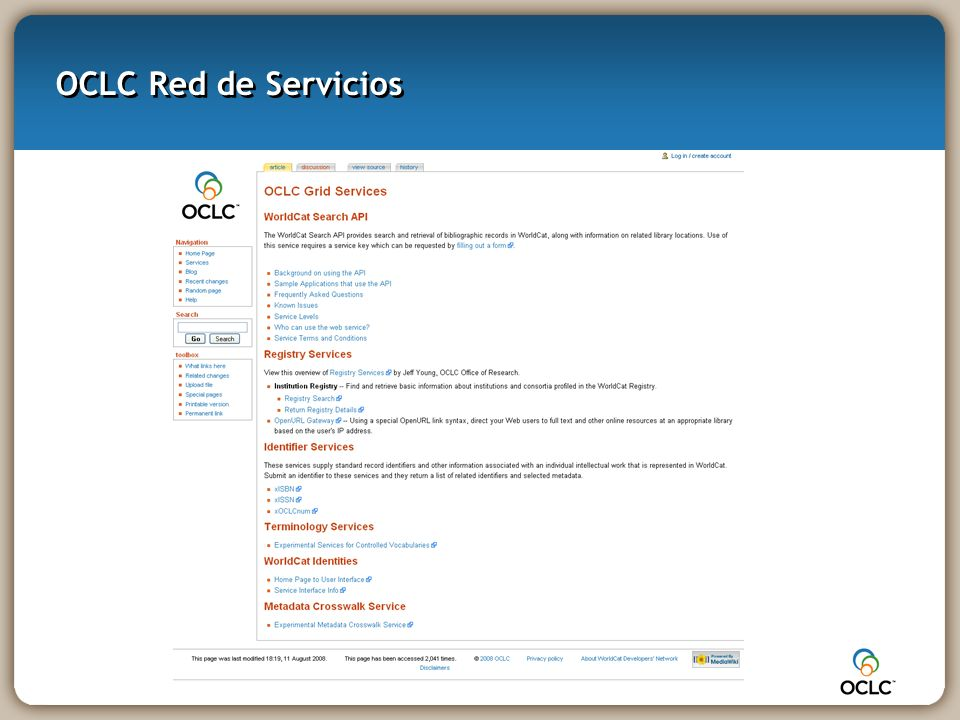 OCLC Red de Servicios