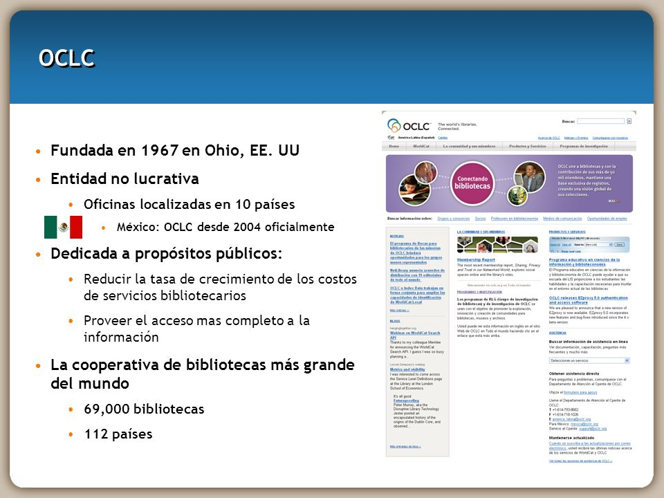 Identidades WorldCat Construido para explorar los datos de WorldCat, Authority Files, y otros Páginas creadas por OCLC para cada uno de los 25+ millones de personas, organizaciones y personajes ficticios en WorldCat Incluye enlaces a WorldCat.org, Wikipedia, y otros sitios Web