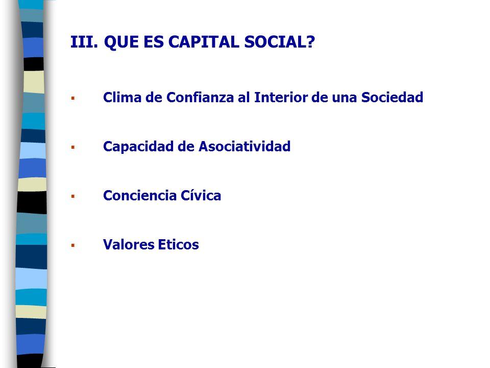 III.QUE ES CAPITAL SOCIAL.