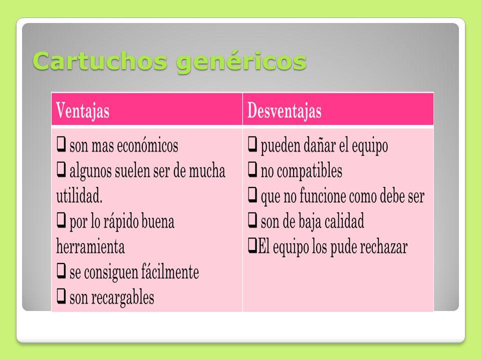 Cartuchos genéricos