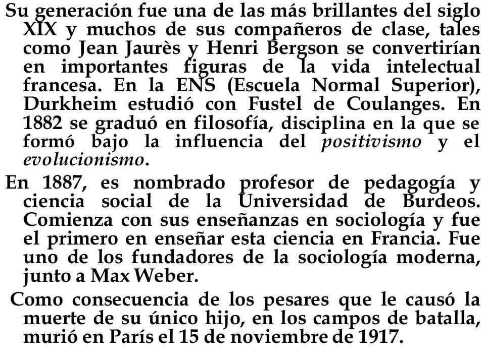 Su generación fue una de las más brillantes del siglo XIX y muchos de sus compañeros de clase, tales como Jean Jaurès y Henri Bergson se convertirían