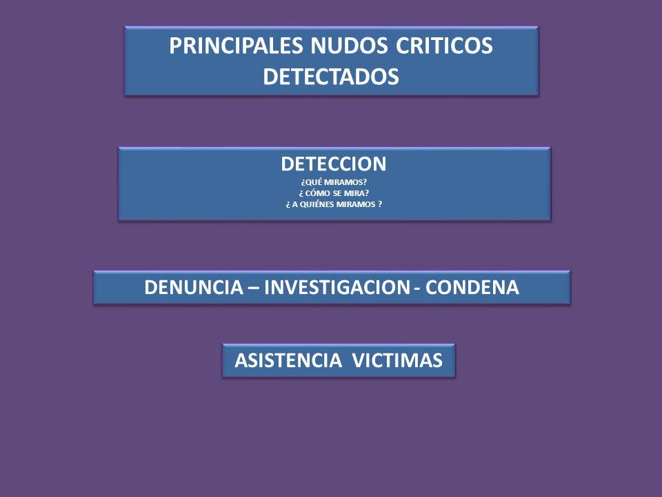 PRINCIPALES NUDOS CRITICOS DETECTADOS DETECCION ¿QUÉ MIRAMOS.