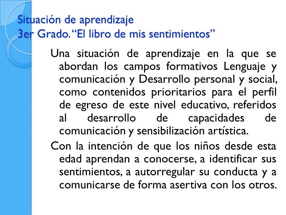 Situación de aprendizaje 3er Grado.