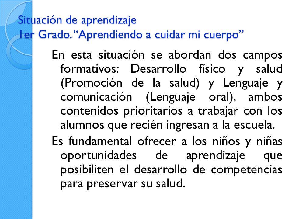 Situación de aprendizaje 1er Grado.