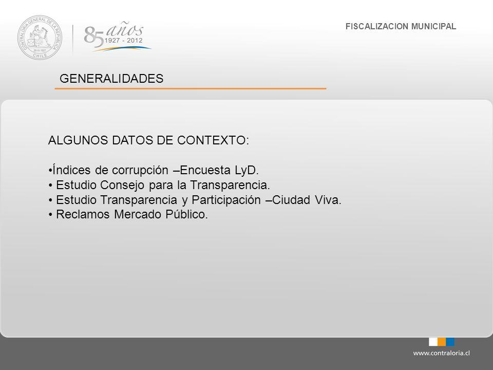 FISCALIZACION MUNICIPAL ENCUESTA DE CORRUPCIÓN 2012 L Y D