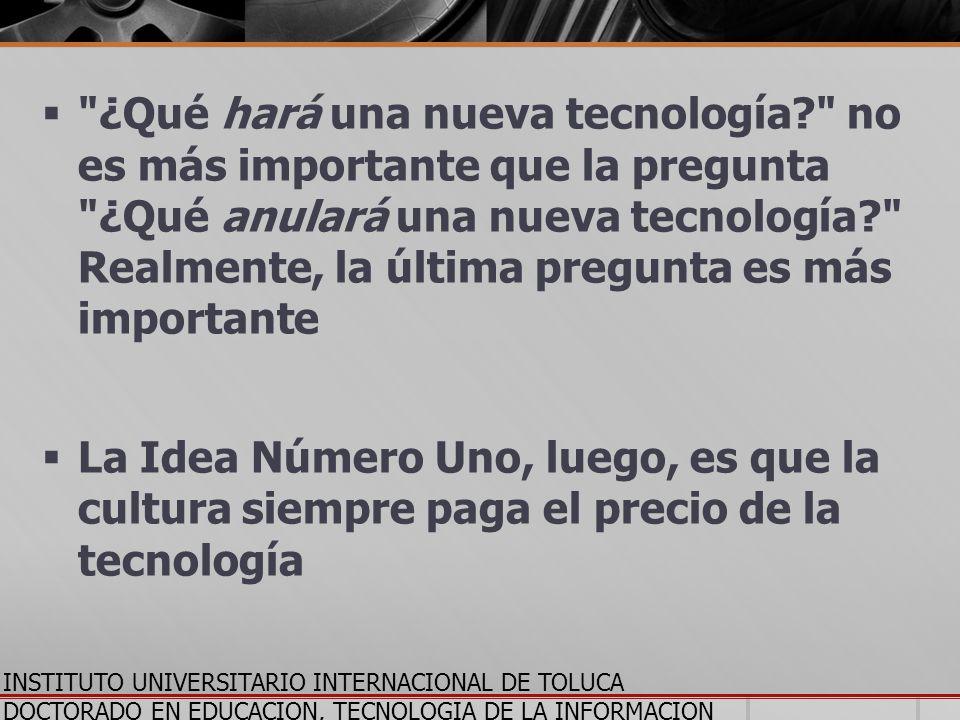 INSTITUTO UNIVERSITARIO INTERNACIONAL DE TOLUCA DOCTORADO EN EDUCACION, TECNOLOGIA DE LA INFORMACION Y LA COMUNICACION