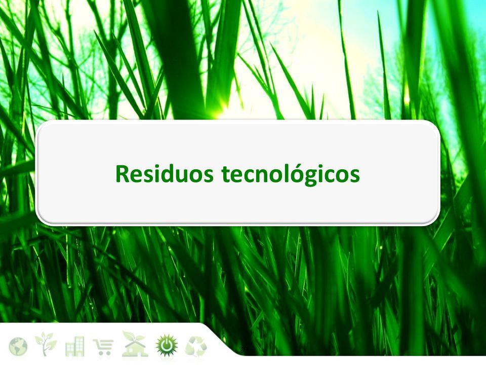20 Situación medioambiental Residuos tecnológicos