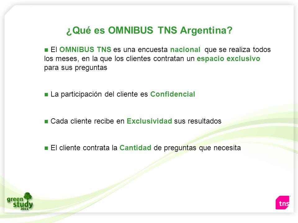 ¿Qué es OMNIBUS TNS Argentina? El OMNIBUS TNS es una encuesta nacional que se realiza todos los meses, en la que los clientes contratan un espacio exc