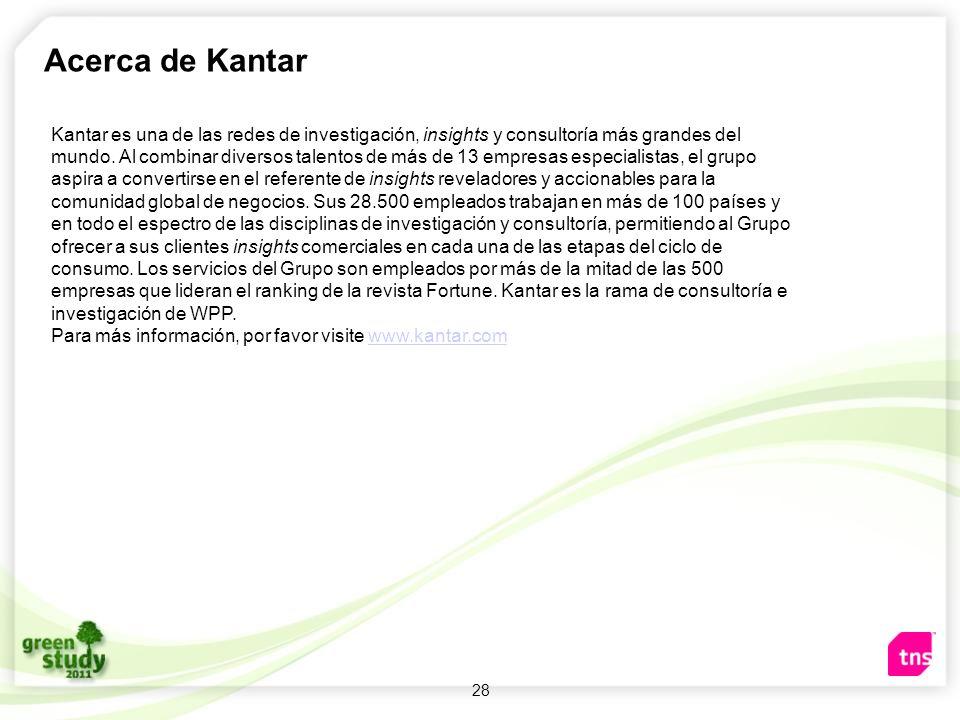 28 Acerca de Kantar Kantar es una de las redes de investigación, insights y consultoría más grandes del mundo. Al combinar diversos talentos de más de