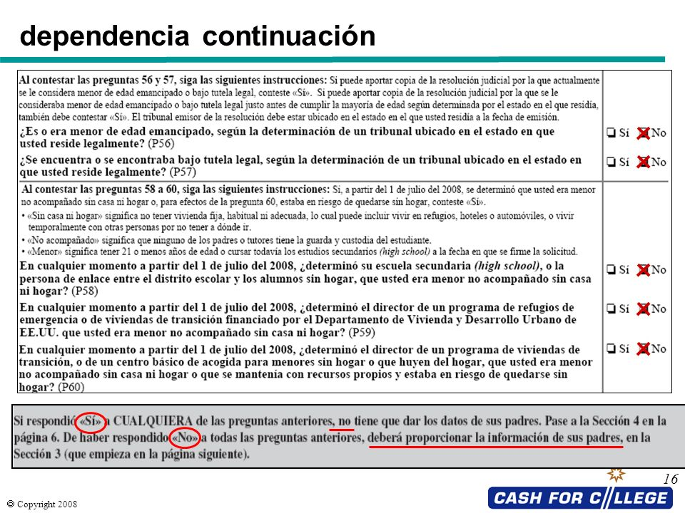 Copyright 2008 16 dependencia continuación