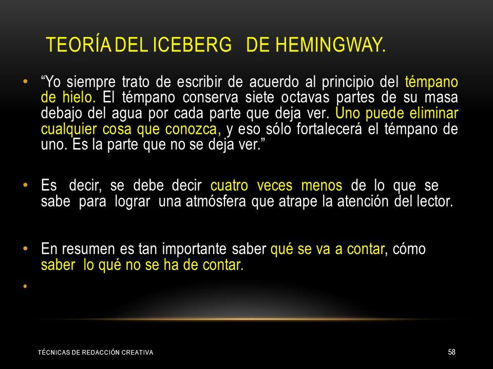 TÉCNICAS DE REDACCIÓN CREATIVA 57
