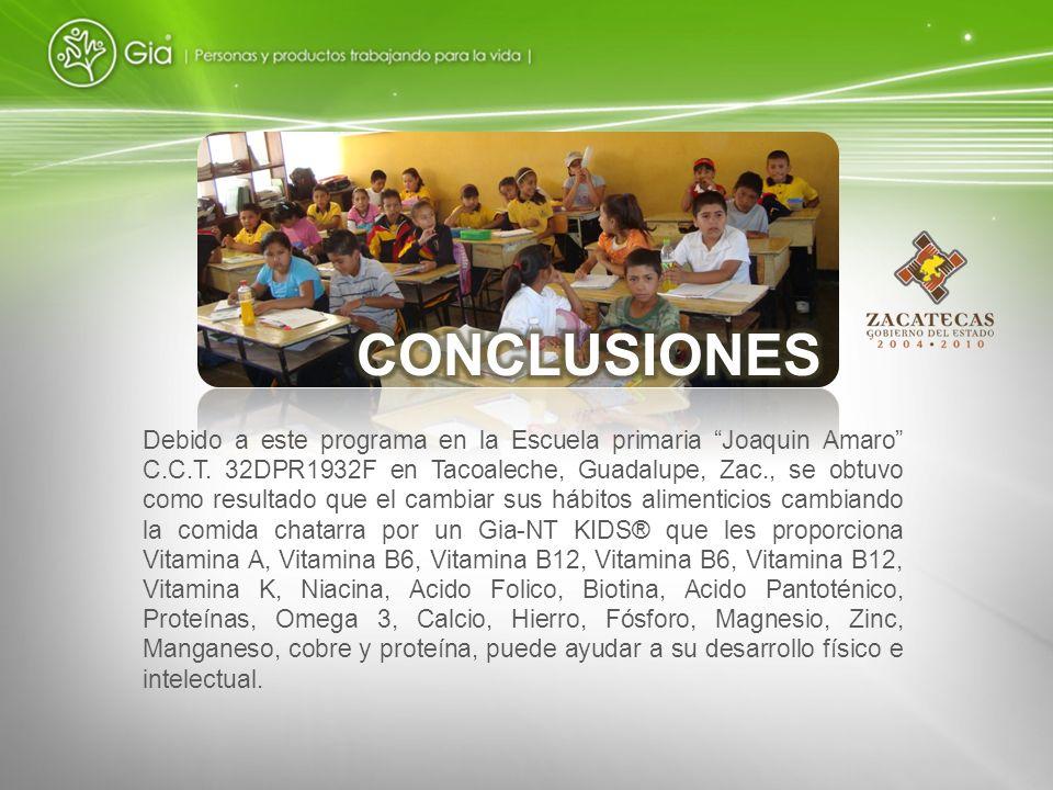 Debido a este programa en la Escuela primaria Joaquin Amaro C.C.T. 32DPR1932F en Tacoaleche, Guadalupe, Zac., se obtuvo como resultado que el cambiar
