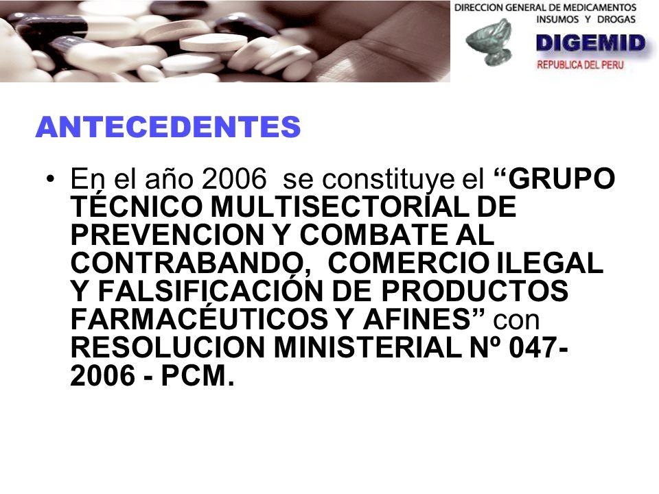 En el Año 2006 DIGEMID participa en International Conference Combating Counterfeit Drugs, Building Effective International Collaboration Rome, Italy c
