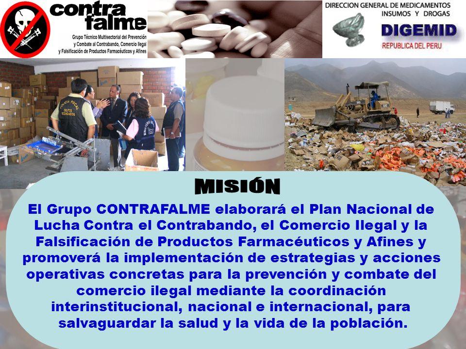 Eliminar el comercio ilegal de medicamentos con la aplicación de normas legales disuasivas y la acción estratégica y Operativa con participación del s