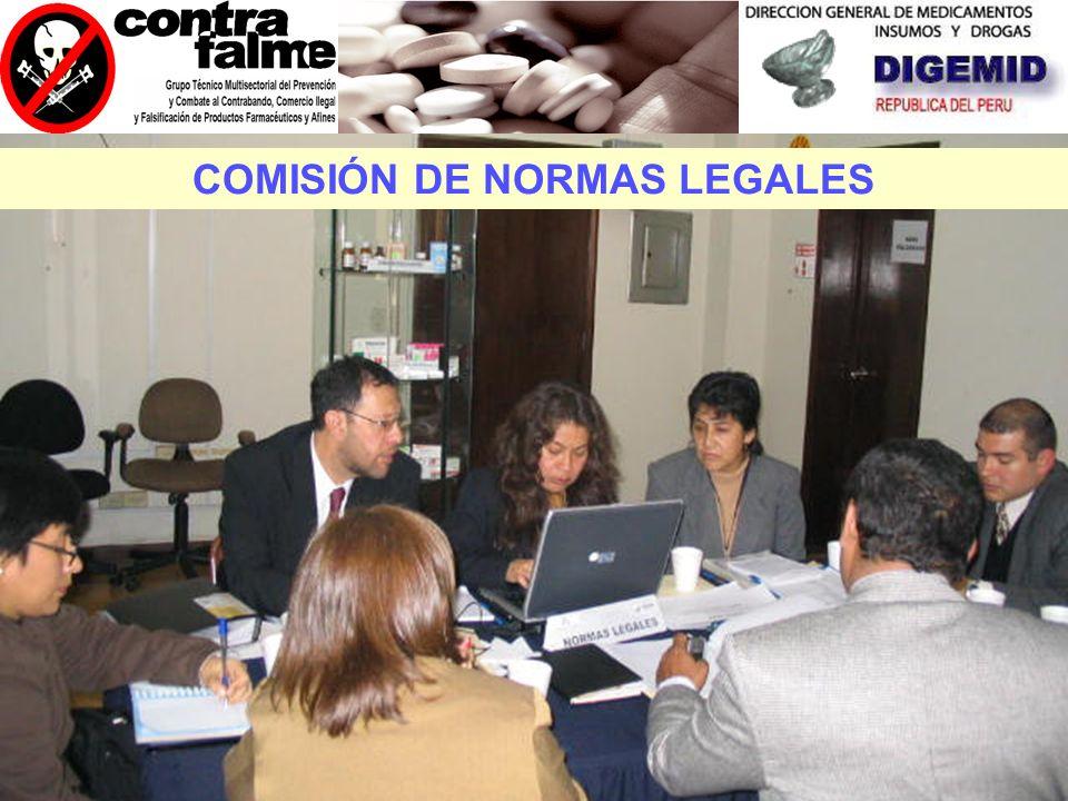 NORMAS LEGALES FISCALIZACIÓN E INTELIGENCIA SANITARIA SENSIBILIZACIÓN (DIFUSIÓN Y EDUCACIÓN) FINANCIAMIENTO Y COOPERACIÓN COMISIONES DE TRABAJO
