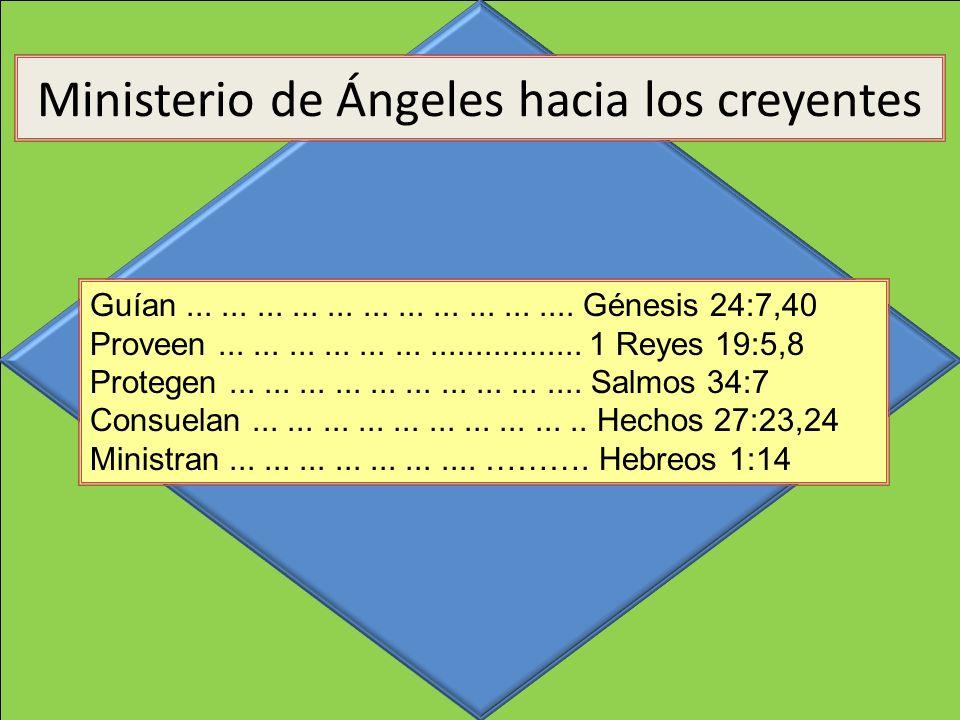 Guían.................................. Génesis 24:7,40 Proveen................................... 1 Reyes 19:5,8 Protegen............................