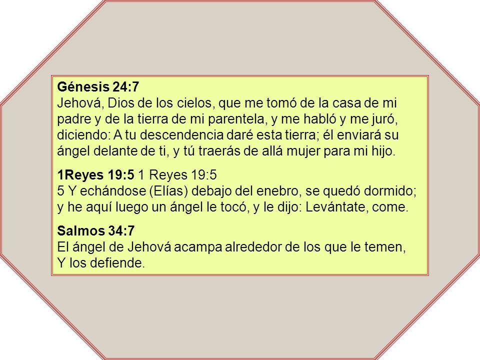 Génesis 24:7 Jehová, Dios de los cielos, que me tomó de la casa de mi padre y de la tierra de mi parentela, y me habló y me juró, diciendo: A tu desce