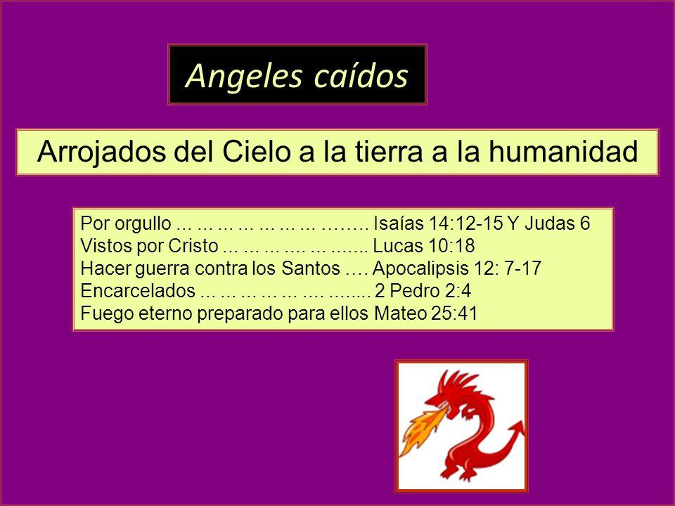 Por orgullo..................... …….. Isaías 14:12-15 Y Judas 6 Vistos por Cristo....................... Lucas 10:18 Hacer guerra contra los Santos ….