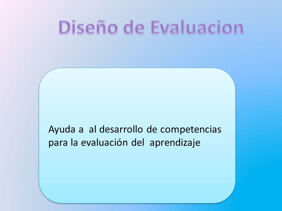 Ayuda a al desarrollo de competencias para la evaluación del aprendizaje