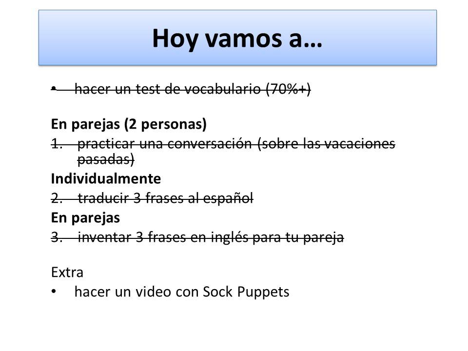 Inventa 3 frases en inglés inglés 1. 2. 3. español 1. 2. 3.