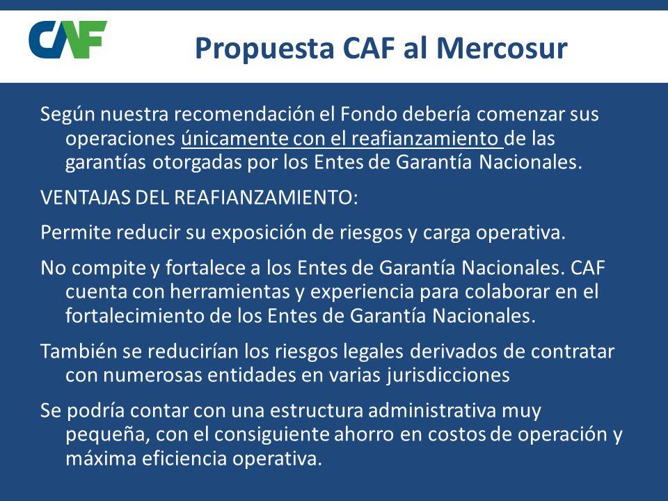 Reafianzamiento Según nuestra recomendación el Fondo debería comenzar sus operaciones únicamente con el reafianzamiento de las garantías otorgadas por los Entes de Garantía Nacionales.