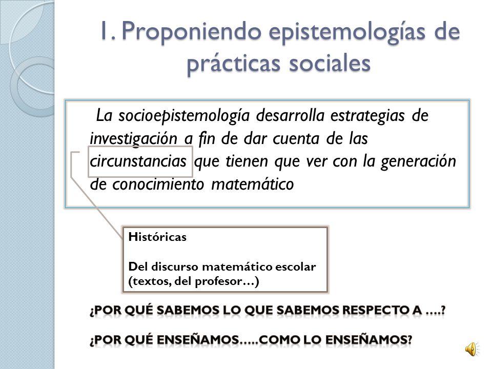 Referencias Buendía, G. (2010).Articulando el saber matemático a través de prácticas sociales. El caso de lo periódico. Aceptado para su publicación e