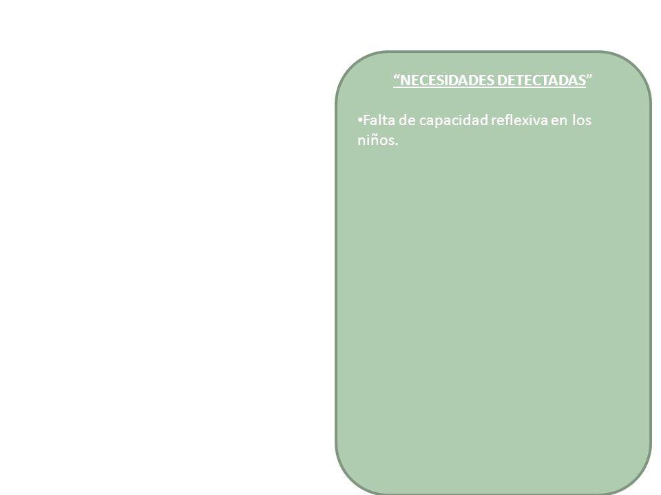 Niños Favorecer en los niños el desarrollo de las capacidades y actitudes que caracterizan el pensamiento reflexivo, mediante experiencias, observación, experimentación, manipulación de objetos y materiales, que formulen hipótesis, resuelvan problemas y den respuesta a distintos fenómenos provocados por la experimentación.