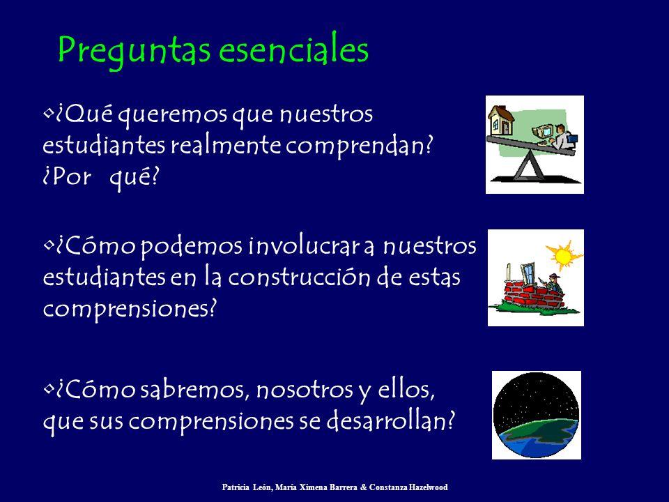 Patricia León, María Ximena Barrera & Constanza Hazelwood ¿Qué queremos que nuestros estudiantes realmente comprendan? ¿Por qué? ¿Cómo podemos involuc