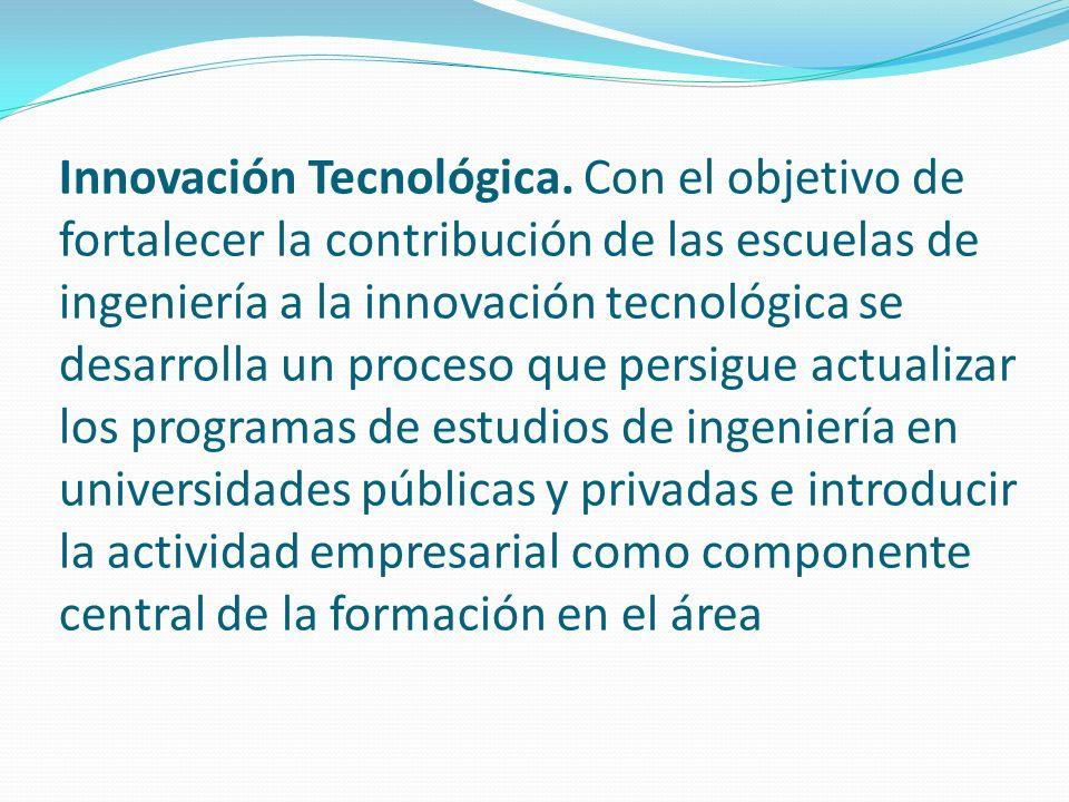 Innovación Tecnológica.