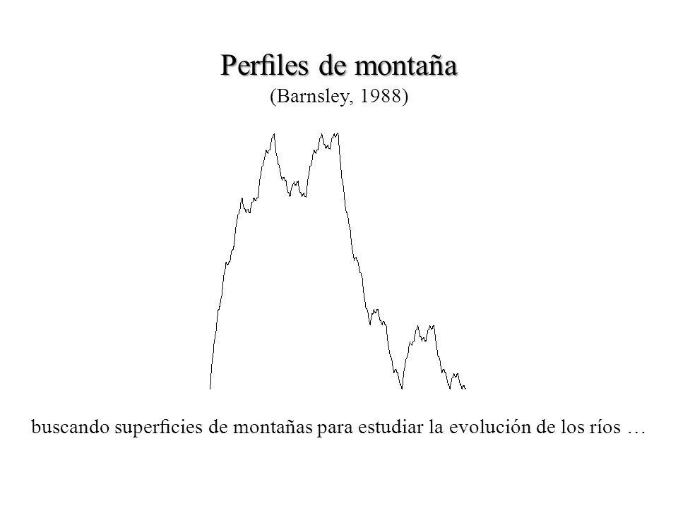 Perles de montaña Perles de montaña (Barnsley, 1988) buscando supercies de montañas para estudiar la evolución de los ríos …