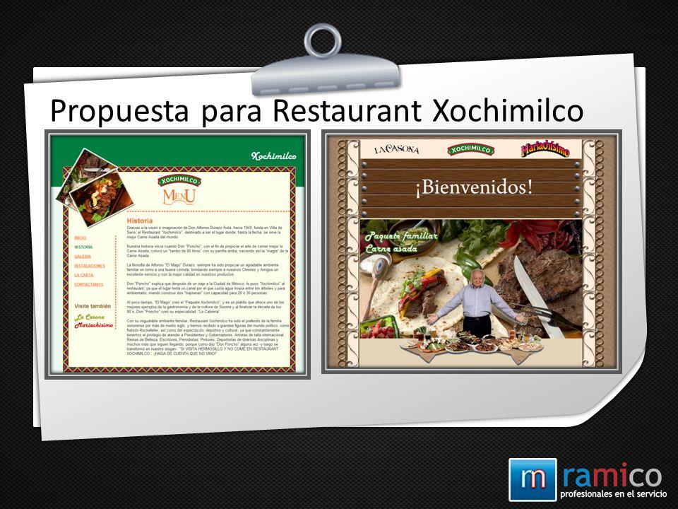 Propuesta para Restaurant Xochimilco