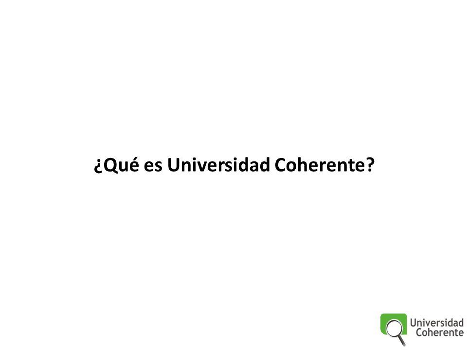 ¿Cuál es la estrategia de Universidad Coherente ?