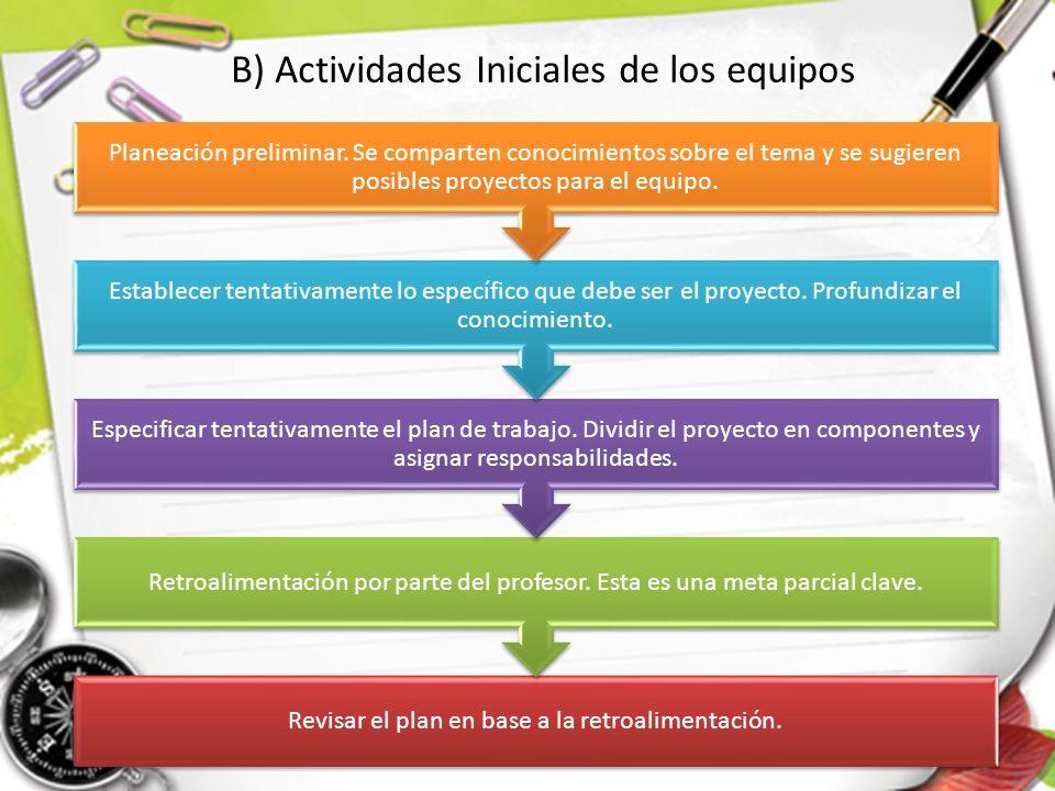 Revisar el plan en base a la retroalimentación. Retroalimentación por parte del profesor. Esta es una meta parcial clave. Especificar tentativamente e