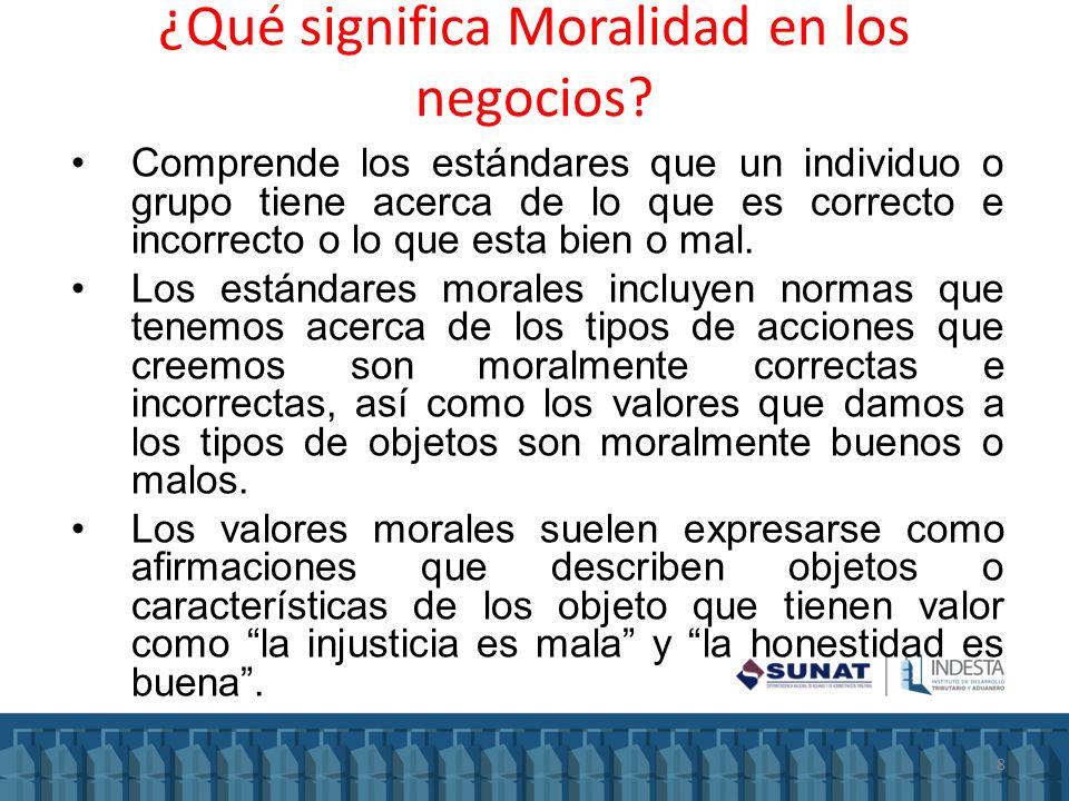 ¿Qué significa Moralidad en los negocios? Comprende los estándares que un individuo o grupo tiene acerca de lo que es correcto e incorrecto o lo que e