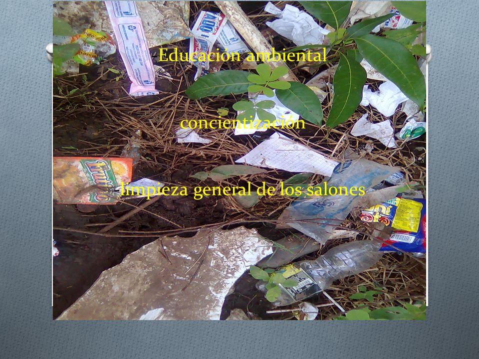 1.2_PALABRAS CLAVES -Reducción de basura -Educación ambiental -concientización -limpieza general de los salones -