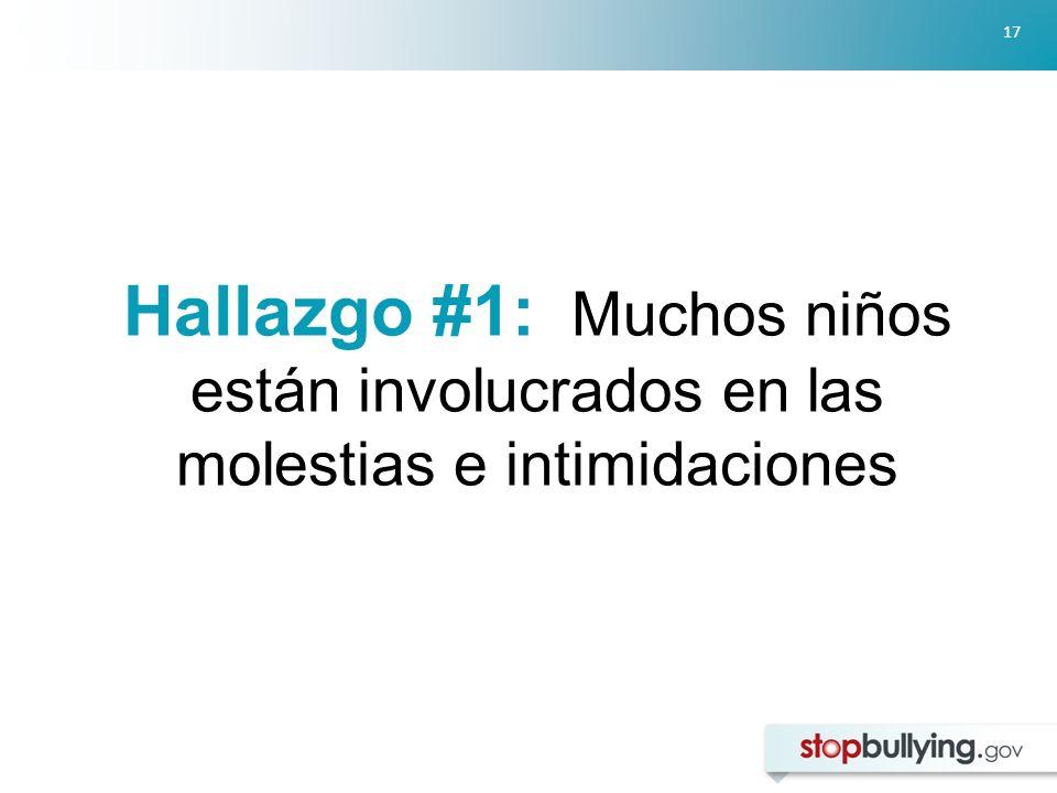 17 Hallazgo #1: Muchos niños están involucrados en las molestias e intimidaciones