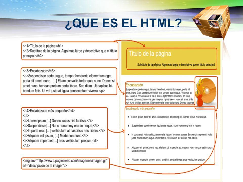 ¿QUE ES EL HTML?
