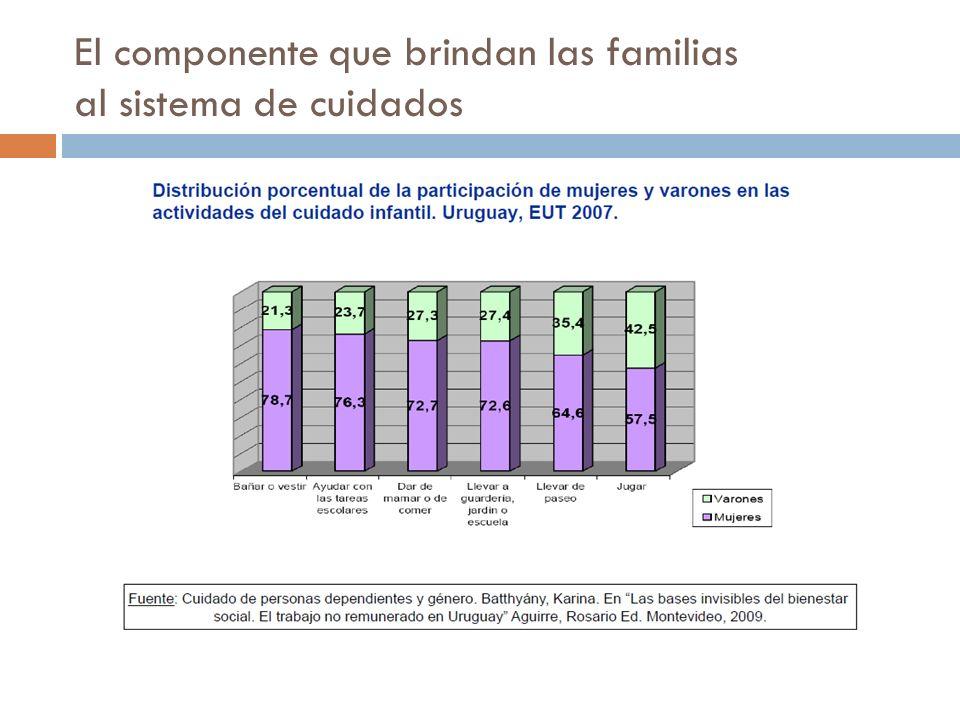 El componente que brindan las familias al sistema de cuidados