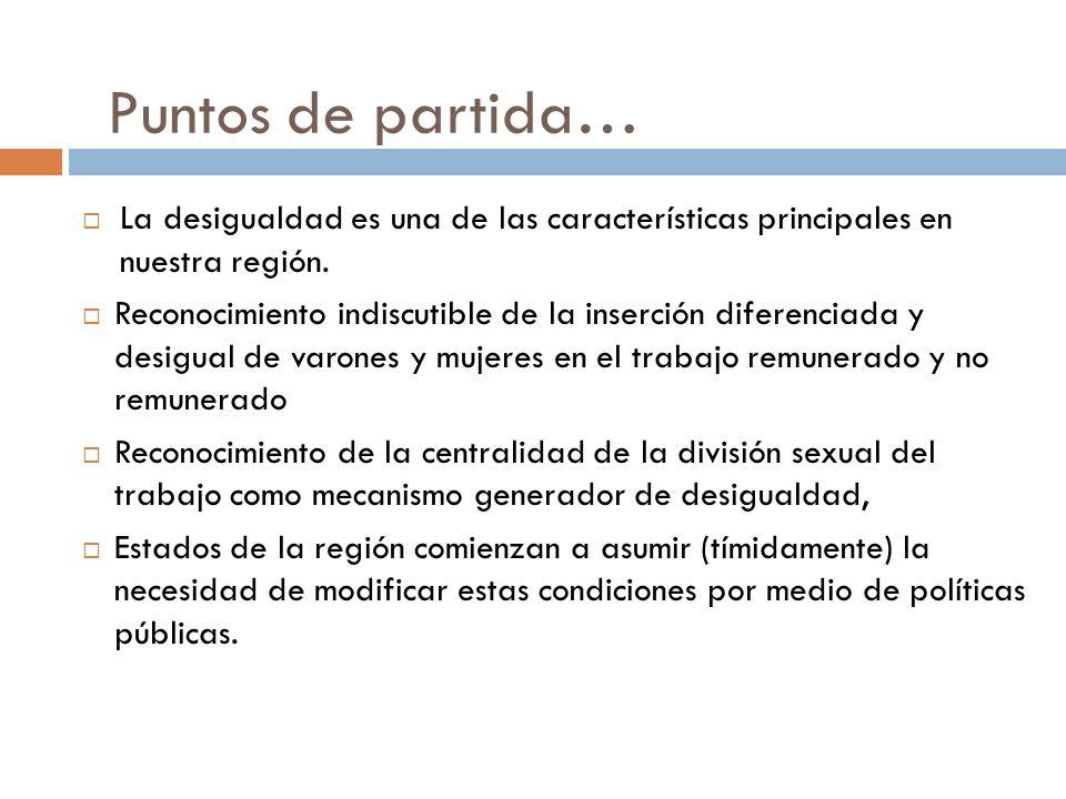 Puntos de partida… La desigualdad es una de las características principales en nuestra región.