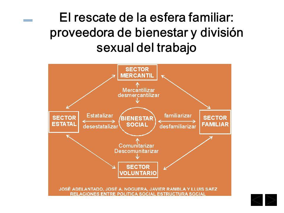 El rescate de la esfera familiar: proveedora de bienestar y división sexual del trabajo