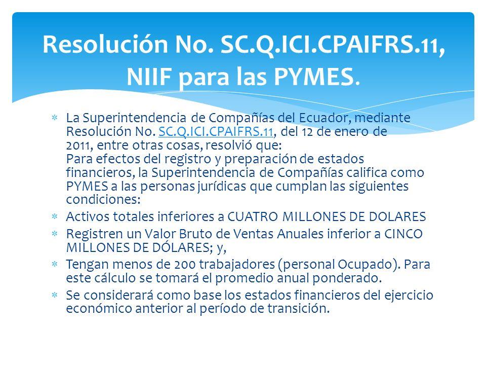 La Superintendencia de Compañías del Ecuador, mediante Resolución No.