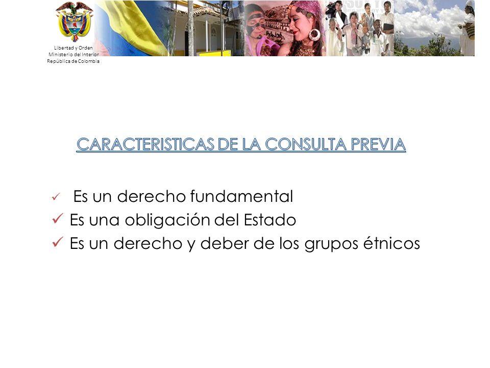 Libertad y Orden Ministerio del Interior República de Colombia Es un derecho fundamental Es una obligación del Estado Es un derecho y deber de los gru