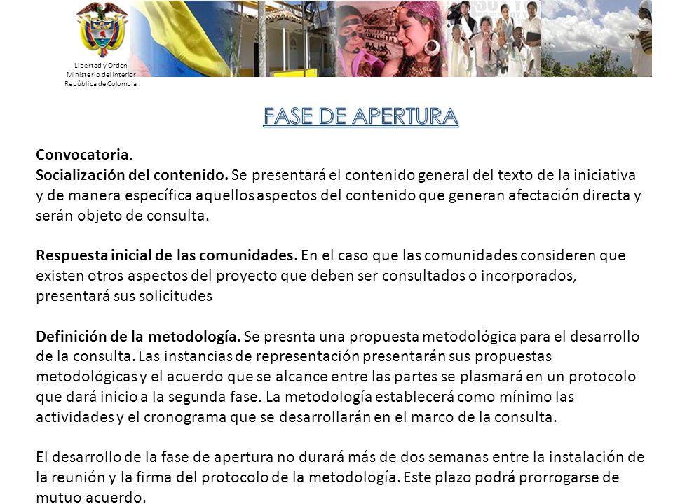 Libertad y Orden Ministerio del Interior República de Colombia Convocatoria. Socialización del contenido. Se presentará el contenido general del texto